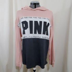 PINK VICTORIA SECRET Hoodie In Pale Pink Size L